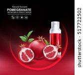 collagen pomegranate and serum... | Shutterstock .eps vector #517722502