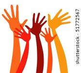 happy hands vector. | Shutterstock .eps vector #51772567