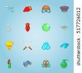 military equipment icons set.... | Shutterstock .eps vector #517726012