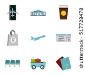 airport check in icons set.... | Shutterstock .eps vector #517728478