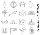 sri lanka travel icons set.... | Shutterstock .eps vector #517729408