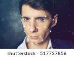 biometric verification. face...   Shutterstock . vector #517737856