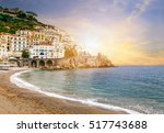 beautiful landscape of amalfi... | Shutterstock . vector #517743688