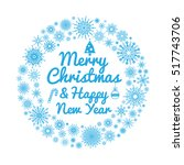circle frame with snowflakes... | Shutterstock .eps vector #517743706