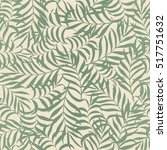 seamless pattern with hand... | Shutterstock .eps vector #517751632