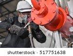service engineer working at... | Shutterstock . vector #517751638