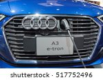 Small photo of Los Angeles, USA - November 16, 2016: Audi A3 e-tron electric car on display during the Los Angeles Auto Show.