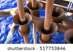 offshore industry oil and gas... | Shutterstock . vector #517753846