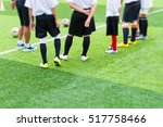 young football player training... | Shutterstock . vector #517758466