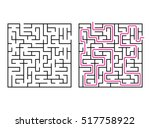 vector labyrinth. maze  ... | Shutterstock .eps vector #517758922