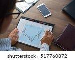 business analysis   calculator  ... | Shutterstock . vector #517760872