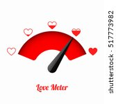 Stock vector love meter valentine s day card design element 517773982