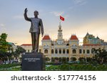 ho chi minh statue in front of... | Shutterstock . vector #517774156