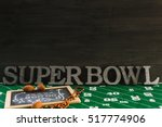 game day football party table. | Shutterstock . vector #517774906