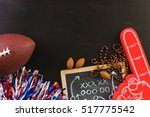 game day football party table. | Shutterstock . vector #517775542