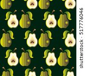 seamless pattern of yellow pear ... | Shutterstock .eps vector #517776046