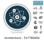 pictograph of atom | Shutterstock .eps vector #517780606