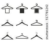hanger vector icons set. black... | Shutterstock .eps vector #517781242