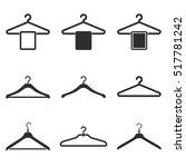 hanger vector icons set. black... | Shutterstock .eps vector #517781242