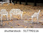 White Garden Furniture With...