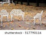 White Garden Furniture With...