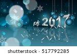 pf 2017 vector blurred... | Shutterstock .eps vector #517792285