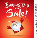 boxing day sale  santa claus... | Shutterstock .eps vector #517793452
