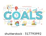 goal word in business concept... | Shutterstock .eps vector #517793992
