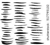 black ink vector brush strokes. ... | Shutterstock .eps vector #517795132