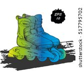 vector illustration of roller... | Shutterstock .eps vector #517795702