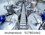 equipment at dairy plant | Shutterstock . vector #517801462