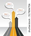 arrows road infographic... | Shutterstock .eps vector #517806706