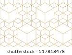 golden lines  hexagons  rhombs... | Shutterstock .eps vector #517818478