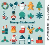 christmas icon set | Shutterstock .eps vector #517820092