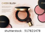 cheek blush ads  3d... | Shutterstock .eps vector #517821478