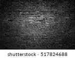 old black brick wall. grunge... | Shutterstock . vector #517824688