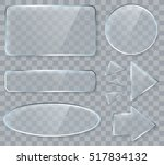 vector transparent glass design ... | Shutterstock .eps vector #517834132
