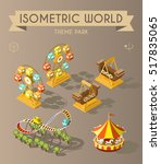 set of isolated isometric... | Shutterstock .eps vector #517835065