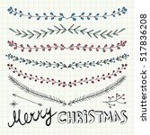Hand Drawn Christmas Decorative ...