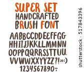 hand drawn brush ink vector abc ... | Shutterstock .eps vector #517843396