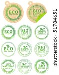 set of different eco rubber... | Shutterstock .eps vector #51784651