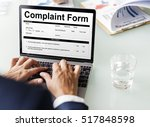 Stock photo complaint form customer response concept 517848598