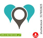 map pointers eps vector icon.... | Shutterstock .eps vector #517852825