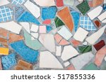 abstract of colorful mosaic... | Shutterstock . vector #517855336