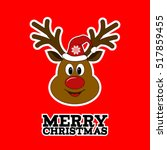 Merry Christmas Reindeer With...