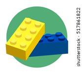 building block toy with shadow. ... | Shutterstock .eps vector #517861822