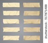 realistic ten sets vector... | Shutterstock .eps vector #517871488