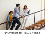 female real estate agent offer... | Shutterstock . vector #517874566