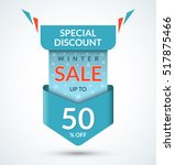winter sale banner. discount... | Shutterstock .eps vector #517875466