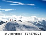 climbers climbing the mountain... | Shutterstock . vector #517878325